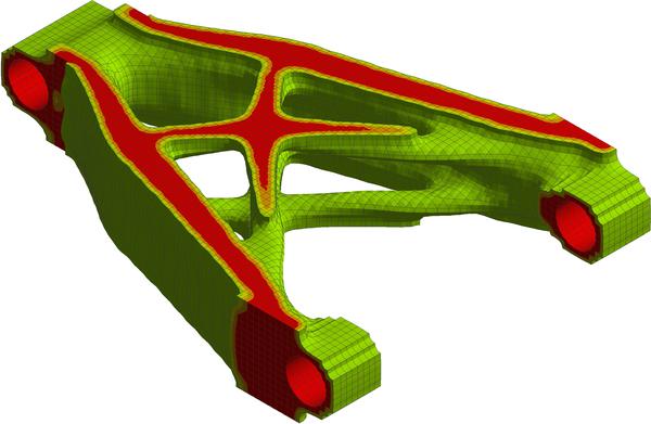 Результат оптимизации детали по аддитивное производство